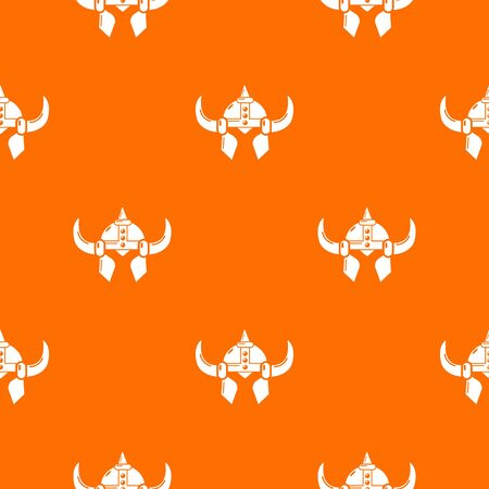 Viking helmet knight pattern vector orange for any web design best