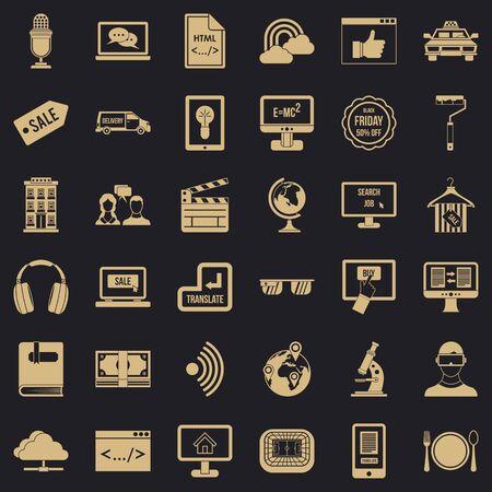 Web presentation icons set. Simple style of 36 web presentation icons for web for any design