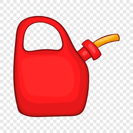Red oiler icon in cartoon style on a background for any web design