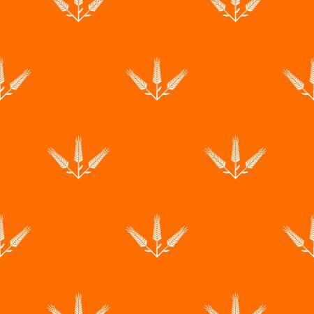 Abundant wheat pattern orange for any web design best
