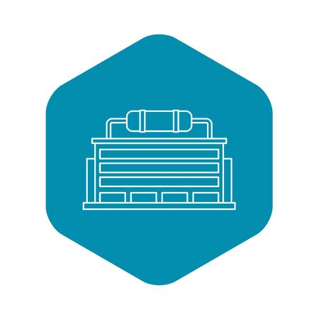 Power station icon. Outline illustration of power station icon for web Stock Photo