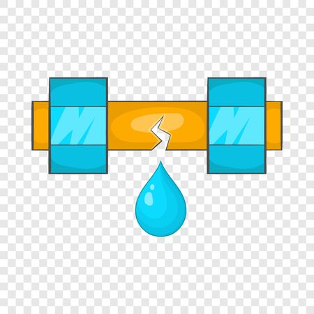 Dripping water pipe icon, cartoon style Stock Photo