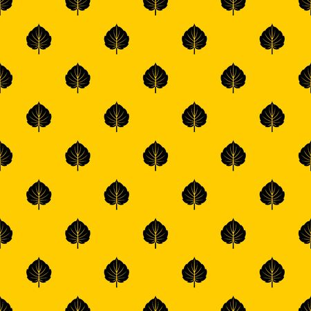 Alder leaf pattern seamless repeat geometric yellow for any design Stock fotó