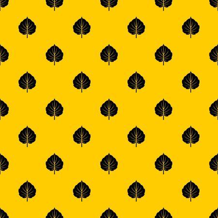 Alder leaf pattern seamless repeat geometric yellow for any design Reklamní fotografie
