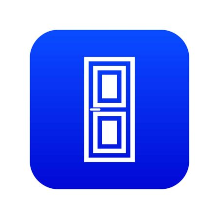 Door icon digital blue for any design isolated on white illustration Stock Photo