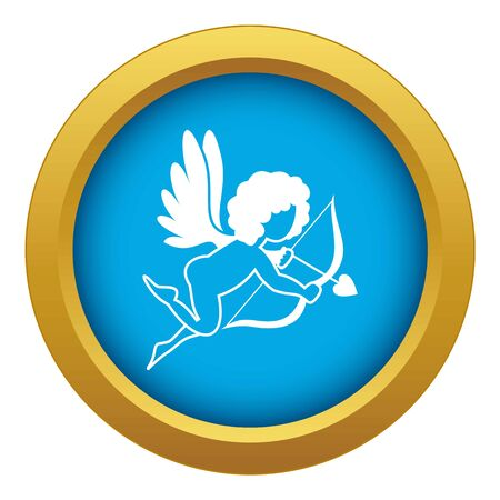 Love Cupid icon blue isolated on white background for any design