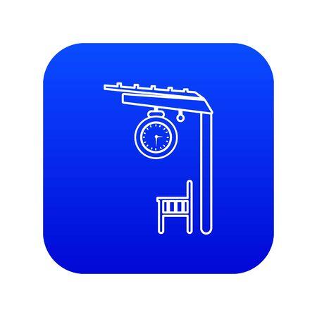 Platform railway icon blue Stock Photo