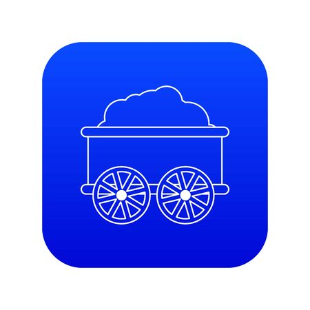 Train wagon icon blue