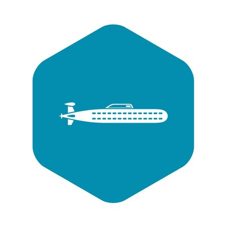 Submarine icon. Simple illustration of submarine vector icon for web