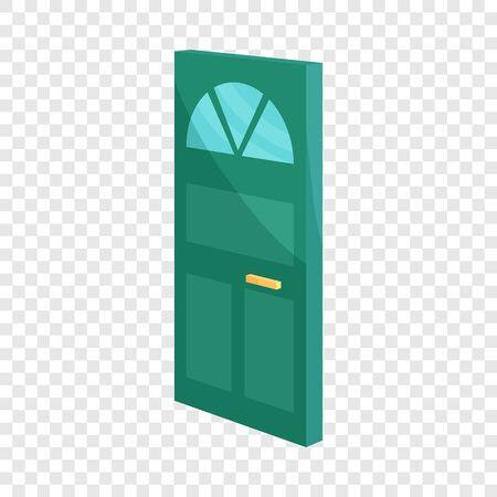Cabinet door icon. Cartoon illustration of door vector icon for web design