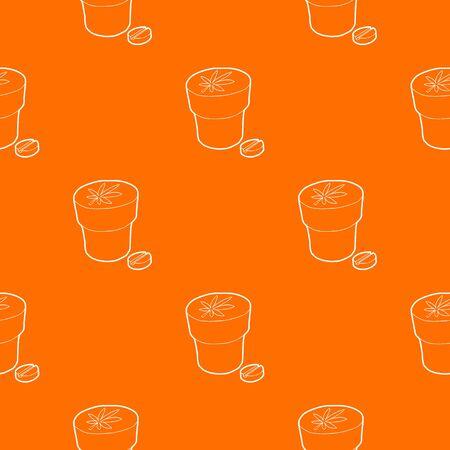 Medical marijuana bottle and tablet pattern vector orange for any web design best