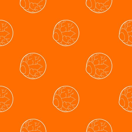 Eye pattern vector orange for any web design best