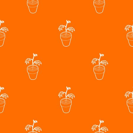 Cannabis plant pattern vector orange for any web design best