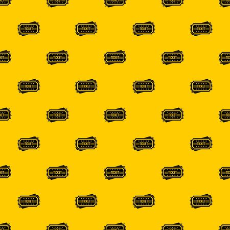 Ticket pattern seamless vector repeat geometric yellow for any design