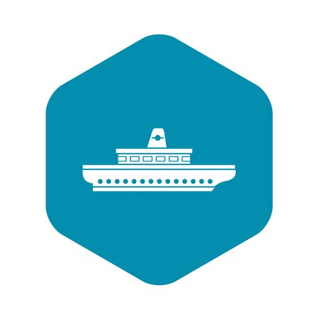 Passenger ship icon. Simple illustration of passenger ship vector icon for web