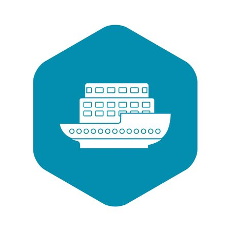 Large passenger ship icon. Simple illustration of large passenger ship vector icon for web