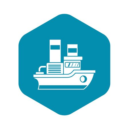 Small ship icon. Simple illustration of small ship vector icon for web