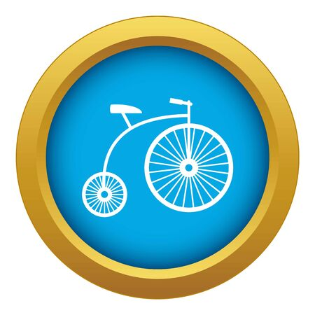 Penny-farthing icon blue vector isolated on white background for any design