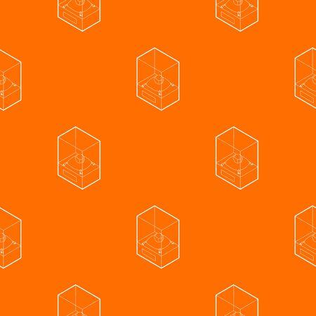 Diamond on a pedestal pattern vector orange 일러스트