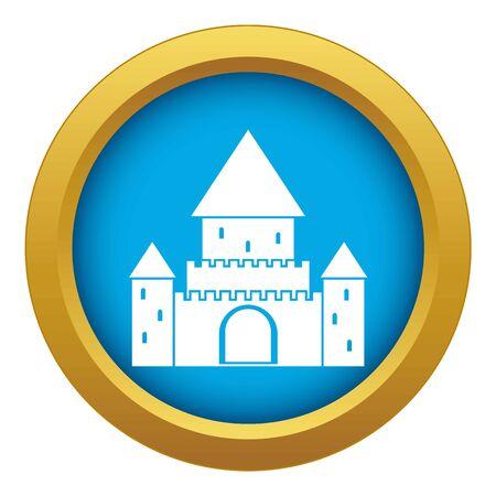 Schloss Chillon, Schweiz Symbol blau Vektor isoliert