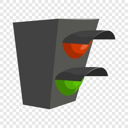 Traffic light icon. Cartoon illustration of traffic light vector icon for web design Ilustração
