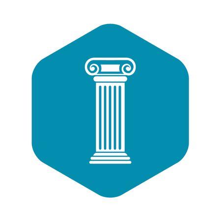 Roman column icon, simple style
