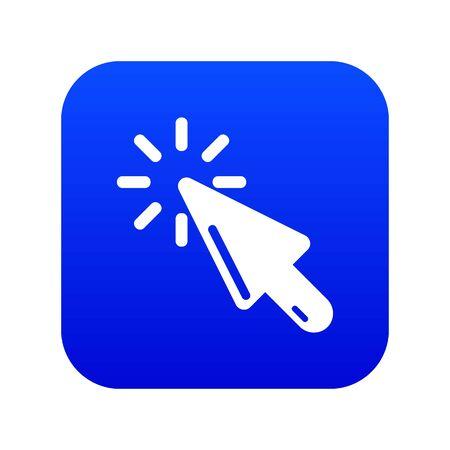 Cursor click icon. Simple illustration of cursor click vector icon for web