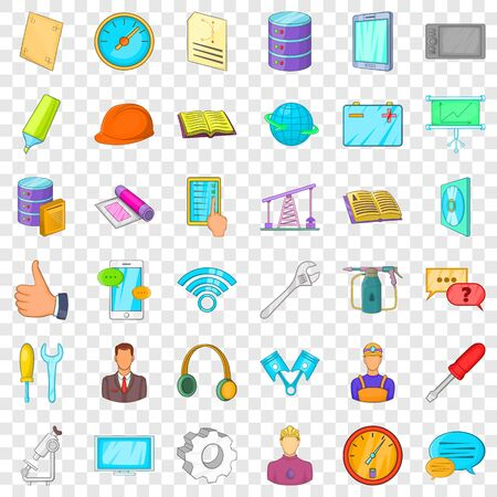 Thumb up icons set, cartoon style 일러스트