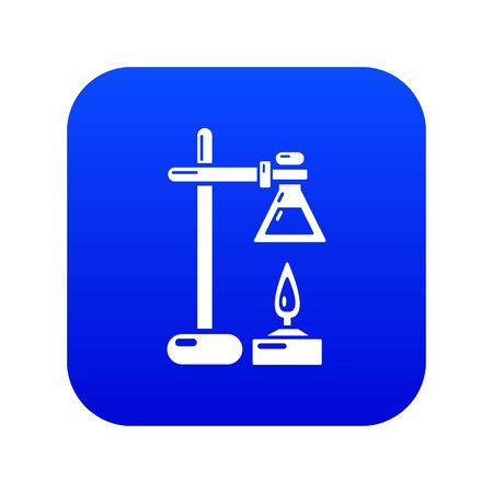 Chemical process icon. Simple illustration of chemical process vector icon for web Illustration