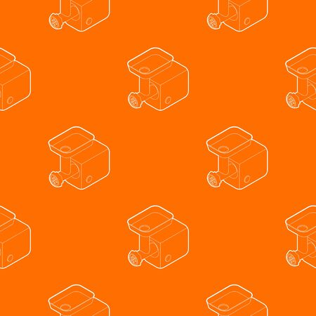 Electric meat grinder pattern vector orange for any web design best