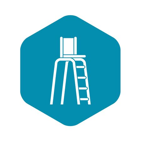 Tennis tower for judges icon. Simple illustration of tennis tower for judges vector icon for web Çizim