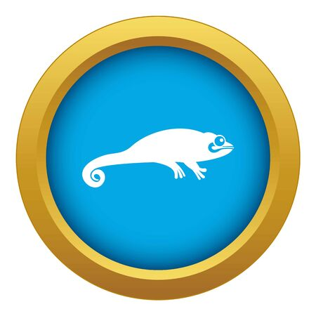 Chameleon icon blue vector isolated on white background for any design