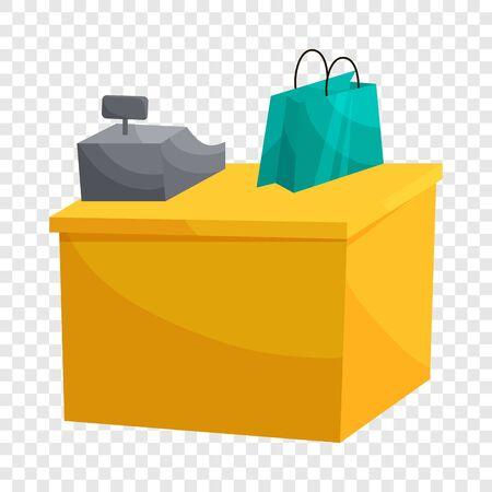 Supermarket cashbox concept. Cartoon illustration of supermarket cashbox vector concept for web.