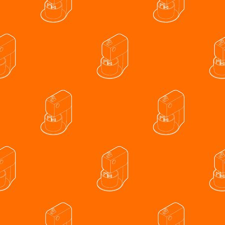Kitchen mixer pattern vector orange for any web design best
