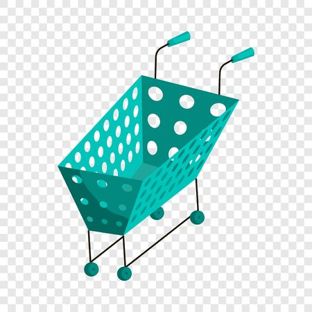 Shopping cart icon. Cartoon illustration of shopping cart vector icon for web.