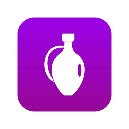 Clay jug icon digital purple for any design isolated on white vector illustration