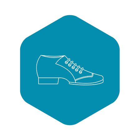 Argentine tango shoe icon, outline style