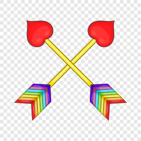 Two arrows LGBT icon, cartoon style 스톡 콘텐츠