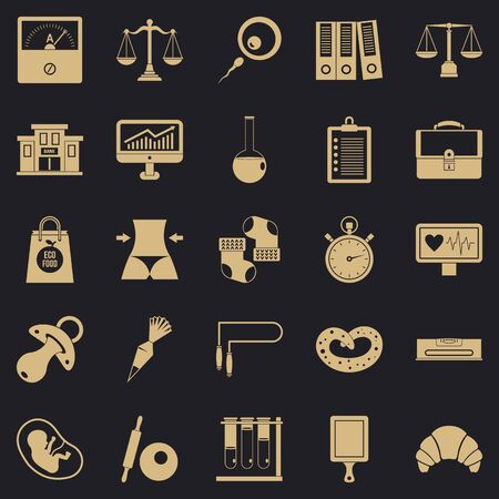Estimation icons set. Simple set of 25 estimation icons for web for any design Archivio Fotografico