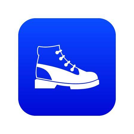 Men oxfords icon digital blue for any design isolated on white illustration