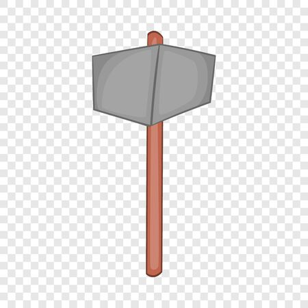 Sledgehammer icon in cartoon style isolated on background for any web design Banco de Imagens