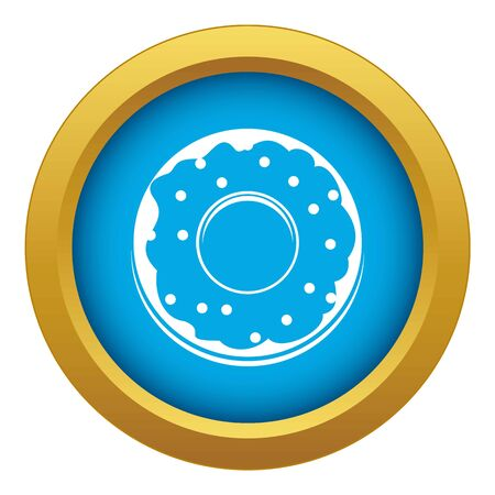 Donut icon blue isolated