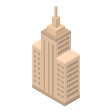 Parliament building icon. Isometric of parliament building vector icon for web design isolated on white background Иллюстрация
