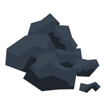 Coal lode icon, isometric style Ilustração