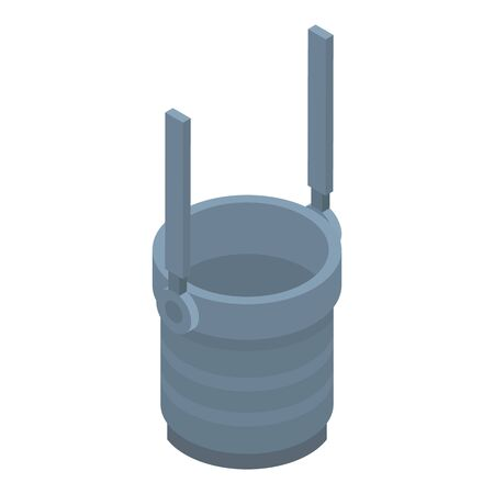 Coal tub icon, isometric style