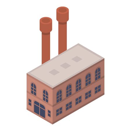Shoe factory icon, isometric style Illustration