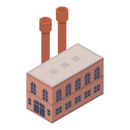 Shoe factory icon, isometric style Stock Illustratie