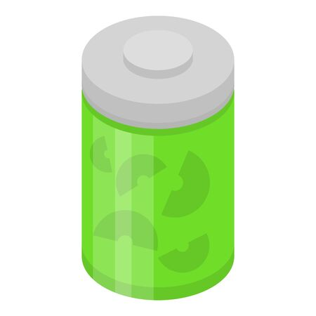 Can of kiwi jam icon. Isometric of can of kiwi jam vector icon for web design isolated on white background