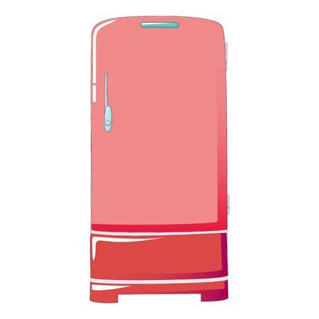 Retro fridge icon. Cartoon of retro fridge vector icon for web design isolated on white background