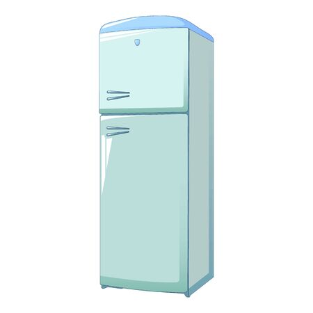 Classic fridge icon. Cartoon of classic fridge vector icon for web design isolated on white background Иллюстрация